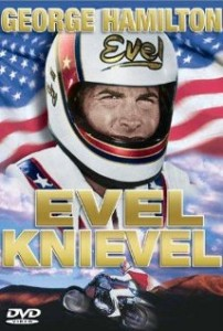 "Jimmy's breakout success with George Hamilton as ""Evel Knievel"""