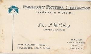 six million dollar Paramount Studios: Location Manager
