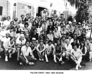Falcon Crest: entire cast & crew...a real family!