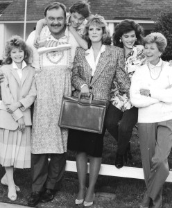 """Time Out for Dad"": Johnny Galeki, Missy Crider, Dick Butkus, Sandy Faison, Tricia Leigh Fisher, Harriet Nelson"