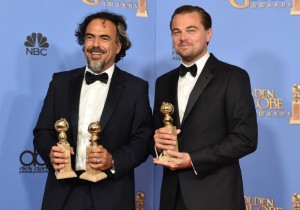 actor leonardo dicaprio director alejandro gonzales inarritu 2016 golden globe awards