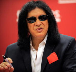 Gene Simmons: speaking his mind!