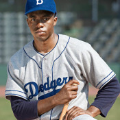 "As Jackie Robinson in ""42"""