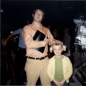 "On ""the Brady Bunch"" set"