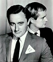 "Robert Vaughn & David McCallum as ""Napoleon Solo"" and ""Illya Kuryakin"""