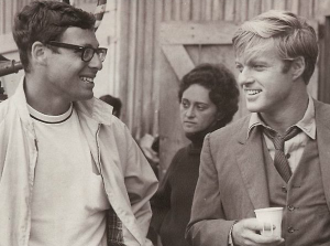 robert redford on movie set